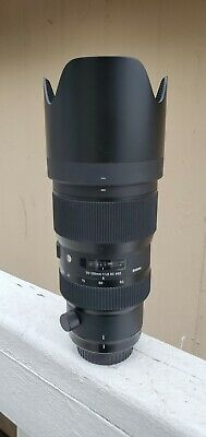 Sigma 50-100mm f/1.8 DC HSM Art Lens Canon EF Used Excellent Condition.