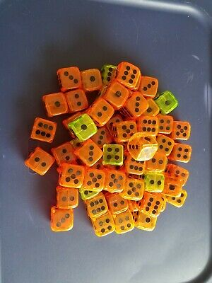 Vintage Gumball/Vending/Dime Store One Inch Plastic/Acrylic Dice Lot Of 65