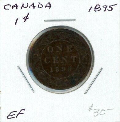 1895 Canada large cent EF