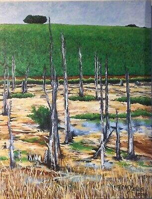 "Tracy Lewis Australian Oil ""The Swamp Near Mirboo North Gippsland"" 2016"