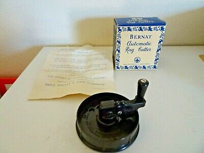 Vintage Bernat Automatic Rug Cutter in box with instructions