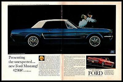 1964 1//2 MUSTANG CONVERTIBLE FORD INTRODUCES THE NEW MUSTANG $2,368  ORGINAL AD