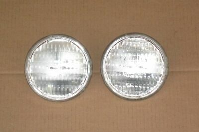 "2 Sealed Beam Tractor Headlights Auto Bulb Lights 35W 12V 4.5"" Replaces Ge 4411"
