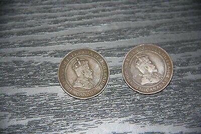 Canadian 1903 1 cent Copper Penny King Edward VII