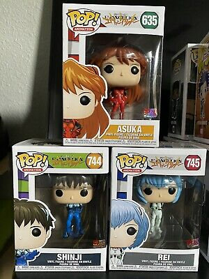 neon genesis evangelion funko pop Set Shinji Asuka Rei Bundle Lot