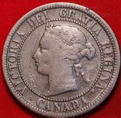 1876 Canada One Cent Foreign Coin
