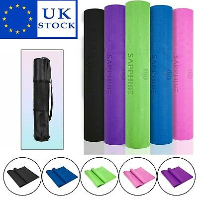 Yoga Mat EXTRA THICK 6mm | 173cm x 61cm NonSlip Exercise Gym Camping Picnic SALE