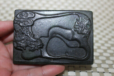 Chinese master hand-carved red mountain culture old jade amulet pendant