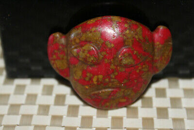 Chinese Neolithic HongShan Jade Hand carved Amulet Pendant W28