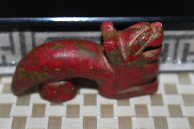 Chinese Neolithic HongShan Jade Hand carved Amulet Pendant W40