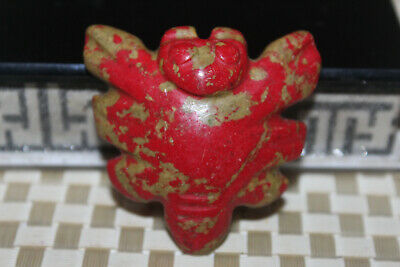 Chinese Neolithic HongShan Jade Hand carved Amulet Pendant W41