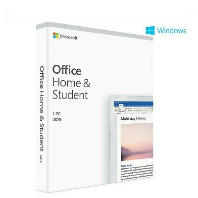 Retail Microsoft Office 2019 Home & Student for Windows PC