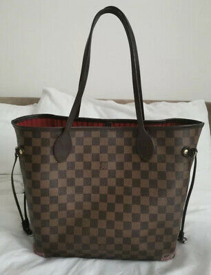 Genuine Louis Vuitton Damier Ebene Neverfull MM Bag
