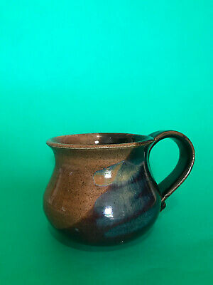 Vintage Space Blue and Brown Glazed Australian Pottery Mug