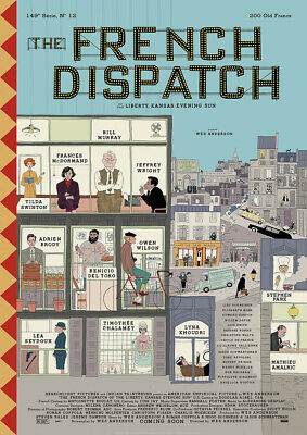 THE FRENCH DISPATCH 2020 Wes Anderson – Reproduction Movie Cinema Poster Art