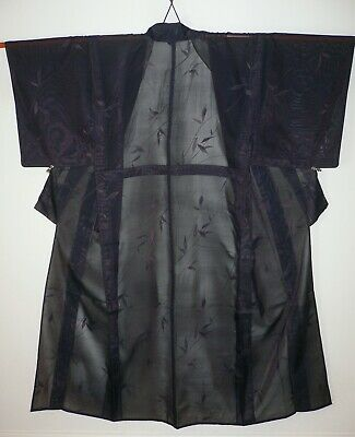 Fab Sha Silk (Gauze), Vintage Japanese Lightweight Summer Kimono Evening Jacket