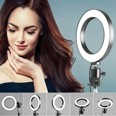 LED Ring Light Studio Photo Video Dimmable Lamp Tripod Stand **UK FAST POST**