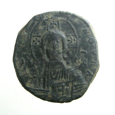 BASIL II / ANONYMOUS BRONZE AE30 FOLLIS_____Bust of Christ_____BYZANTINE EMPIRE