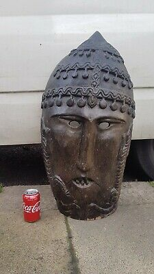 🔴Large Antique African Tribal Mask - Art Sculpture, Wall hanging or LampShade