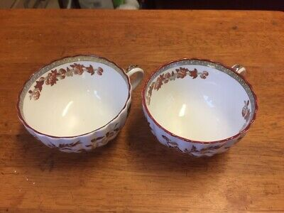 Vintage Copeland Spode INDIA TREE    English China Pair tea cups ( only )