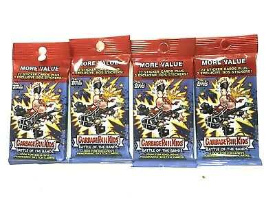 2017 Topps Garbage Pail Kids Battle Of The Bands   Value Packs   ( 4 Pack Lot )