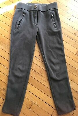 Crewcuts Girls Gray Zip Up Leggings 96% Cotton 4% Spandex Size 6