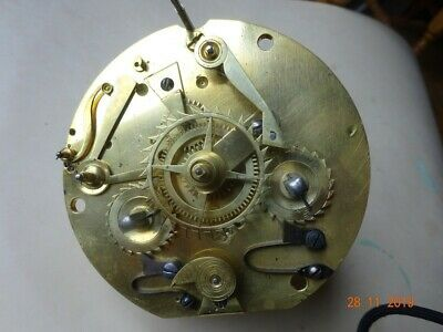 Very rare early French Calendar clock with 8 day movement, strikes on a bell, i