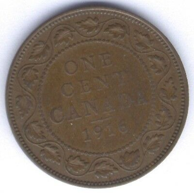 1916 Canada Large One Cent Penny