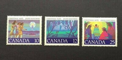 Canadian Stamps Sc#741 - 743. First Christmas Carol. MNH