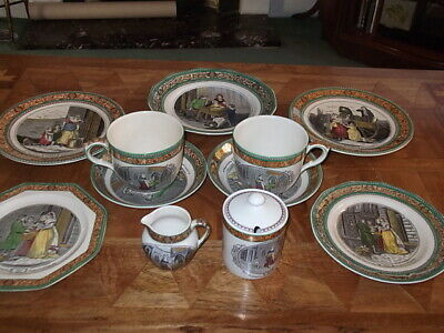 A Delightful Collection Of Antique Adams 'Cries Of London Ware' Extra Large Cups