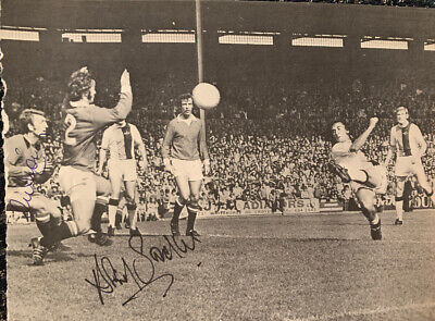 Signed 1970s Alex Stepney David Sadler Manchester United FC Football Autograph
