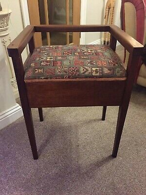 Arts And Crafts Piano Stool with storeage