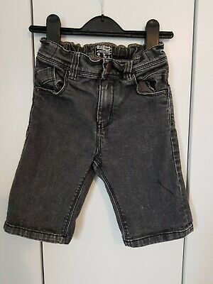 Great TU Boys black Jeans Long Shorts Age 6 Ex cond