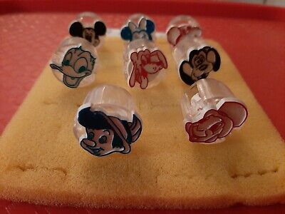 Vintage Gumball/Vending/Dime Store Disney Characters Lot Of 8