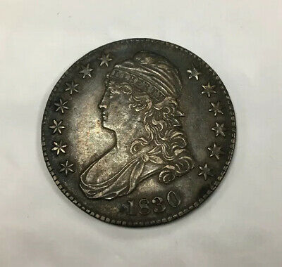 1830 Capped Bust Liberty Half Dollar 50 Cent Piece Au+ Us Silver Coin Q1K76