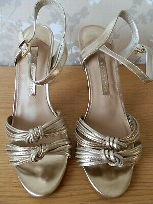 BNWOT M&S Collection Insolia Gold High Heeled Shoes Size 7