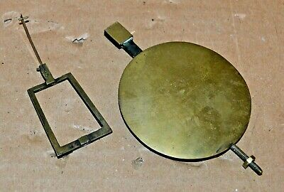 Antique Weight Driven Banjo Clock Pendulum Parts Bob Rating Unit & Keystone