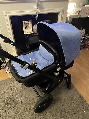 Bugaboo Cameleon 3 ice blue Extendable Hood   And Apron