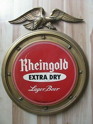 Rheingold Extra Dry Lager Beer Liebmann Breweries, NY Vintage Sign Man Cave Bar