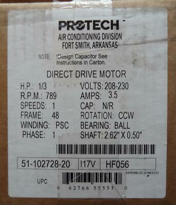 Protech 51-102728-20 1/3 HP Direct Drive Motor