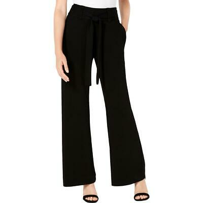 XOXO Womens Black High-Rise Wide-Leg Office Wear Dress Pants Juniors L BHFO 7607