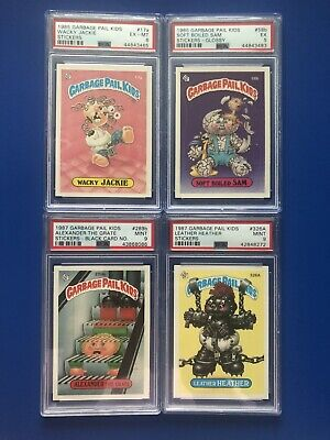 1985-1987 Garbage Pail Kids S1-S8 - 4 Card LOT - PSA 9 and More