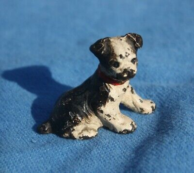 Vintage Hubley Cast Iron Jack Russell Terrier Figural Dog, Original Paint