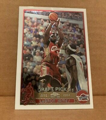 LeBron James 2003/04 Topps Chrome Rookie Card #111