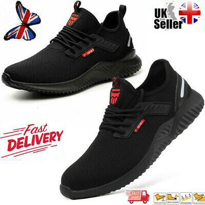 UK Men Safety Shoes Women Lightweight boots Steel Toe Sports Trainers Work Shoes