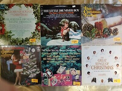 """Lot of 8 """"Christmas Music"""" RECORDS!: HOLIDAY LPs, 33s, 33RPM, Vinyl. Joy to you!"""