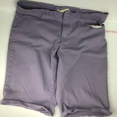 LEVIS Womens Lavendar Bermuda Shorts W/ Stretch Size 32 Purple