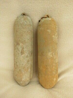 Pair Of Antique Cast Iron Longcase Clock Weights