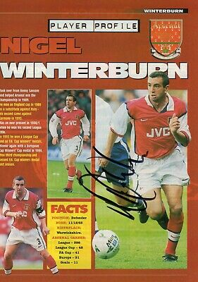 Nigel Winterburn Autograph, Arsenal Football Club