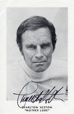 CHARLTON HESTON Deceased AUTOGRAPH , MOTHER LODE IMAGE